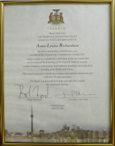 Thank You from Rob Ford and Councillor Parker1